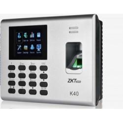 PREVENTA ZK K40 - CTRL DE ACCESO SIMPLE/ 1000 HUELLAS/ PUERTO ETHERNET/ USB/ BATERIA INCLUIDA