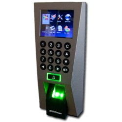 ZK F18HID- CONTROL DE ACCESO PROFESIONAL/ TARJETAS HID/ 3000 HUELLAS/ 30000 REGISTROS/ TCPIP/ USB/ 12VDC