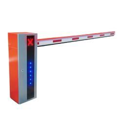 Barrera Vehicular Serie X de Alta Velocidad Iluminada y Sensor de Impacto, Incluye Brazo de 5M, Derecha