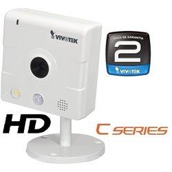 VIVOTEK IP8133 - CAMARA IP HD INTERIOR/ 1 MEGAPIXEL/ H.264 /POE/ AUDIO BIDIRECCIONAL/ SENSOR PIR/ LUZ BLANCA/24 MESES GT