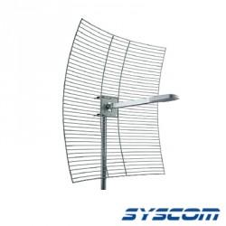 Antena Base Direccional, Rango de Frecuencia 2400 - 2483 MHz, 24 dBi de Ganancia.