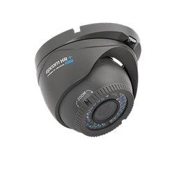 Domo Eyeball Interior/Exterior Antivandálico Varifocal 800TVL UltraHR+2.0 IR Inteligente de 40M, dWDR, Color Gris Oscuro