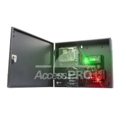 Panel de Control de Acceso IP para 1 Puerta. Incluye Fuente de 12VCD / 3A.