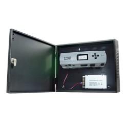 Panel de Control de Acceso IP para 2 Puertas. Integración Total de Biometría. Incluye Fuente de 12VCD / 5A.