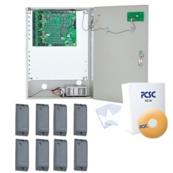 Controlador de Acceso para 8 Lectoras en Kit.
