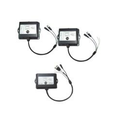 Kit inalámbrico para exterior 2 TX 1 RX, control PTZ, video analógico 2.4 Ghz.