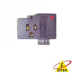 Protector para enchufe salida única, circuito de 110 V / 15 A , tornillo de retención , terminal telco de 105 Vca