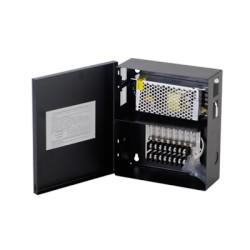 Fuente de Poder Profesional para CCTV de 8 Salidas a 12 Vcd. 5 Amp.