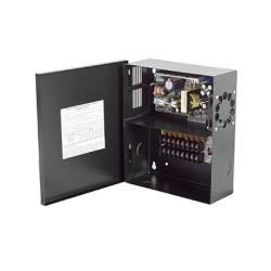 Fuente de poder para CCTV de 16 Salidas a 12 Vcd. 10.4 Amp. con Extractor de Aire y Fusibles Térmicos.