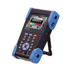 Probador de video con multimetro con funciones de red, probador de corto circuito y funciones de grabación de video.