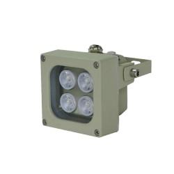 Iluminador luz blanca Ángulo de 120° y Rango de hasta 10m