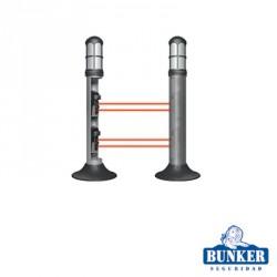 Conjunto de 2 unidades de Carcasa Bunker tipo lámpara de guardia CAV para alojar fotoceldas de doble rayo infrarrojo.