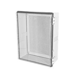 Gabinetes NEMA, Cuerpo Gris, Cubierta Transparente (350 x 450 x 200 mm), para Interior y Exterior. Incluye panel