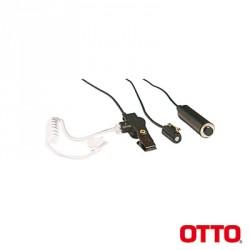 Kit de Micrófono-Audífono profesional de 3 cables Motorola.