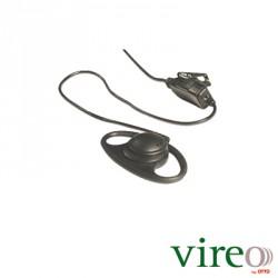 Kit de Micrófono-Audífono de Anillo para ICOM ICF3003/4003/3013/4013/3021/4021