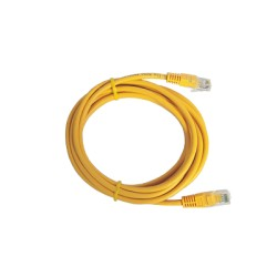Cable Estructurado Patch Cord UTP Amarillo CAT5e 2.0m.