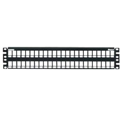Panel de parcheo modular liso, 24 puertos, para poner etiquetas