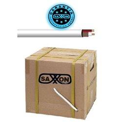 SAXXON SIAMLB500- CABLE SIAMESE BLANCO DE 150 METROS/ MALLA DE PROTECCION CCA/ CABLE DUPLEX ELECTRICO