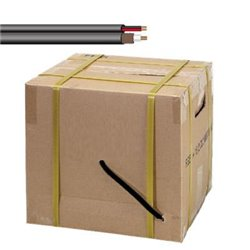 SAXXON SIAMLN1000-CABLE SIAMESE NEGRO DE 305 METROS/ MALLA DE PROTECCION CCA/ CABLE DUPLEX ELECTRICO