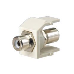 Módulo RCA con conector de paso, RCA Blanco - Blanco