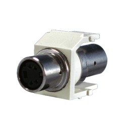 Módulo con conector S-Vídeo de paso - Blanco