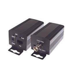 Transceptor Ethernet Sobre Coaxial (EoC) hasta 800 m/UTP hasta 1000 m.(Receptor)