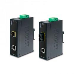 Convertidor de medios Industrial 10/100Base-TX a 100Base-FX Interfaz SC