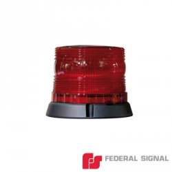 Burbuja para Emergencia Color Rojo. Montaje Permanente. Consumo 1 A a 12 Vcd, 0.5 A a 24 Vcd.