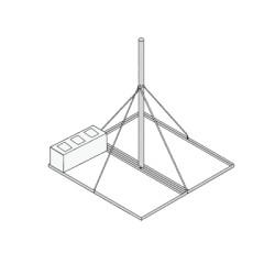 Montaje de techo para mastil FY202