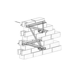 "Montaje de pared para mástiles de 2 7/8"" a 5"" (diámetro)"