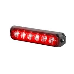 Luz auxiliar de 6 LED's, 12 Vcd, 1 A. Color Rojo.
