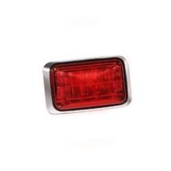 Luz de advertencia Quadraflare LED con flasher integrado y mica de color rojo.