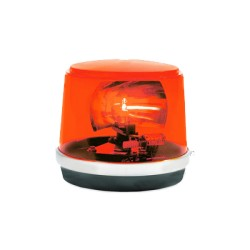 Luz giratoria roja, 95 FPM, 12 V, 55 W.