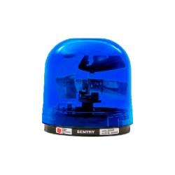 Luz giratoria SENTRY con reflector tipo parabólico. Color Azul