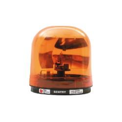 Luz Giratoria SENTRY con Reflector Tipo Parabólico de 95 fpm. Color Ámbar. 24VCD