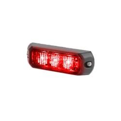 Luz auxiliar de 3 LED's, 12 Vcd, 0.7 A. Color Rojo.