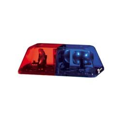"""Barra de luces de 15"""", Color Rojo/Azul, Montaje Magnético."""