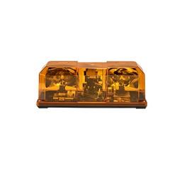 "Barra de luces 15"" con 1 par de lámparas giratorias 95 rpm, 80,000 candelas por destello y montaje permanente. Color ámbar"