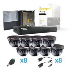 Sistema HDX con 8 HRD900(900TVL, WDR Real).
