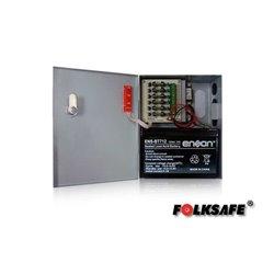 Kit de energía para control de acceso FOLKSAFE FS630+BT - Fuente de poder + Batería 12 3A - 6 Canales