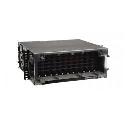 Distribuidor óptico de 4 UR, capacidad para alojar 12 paneles de conectorización .