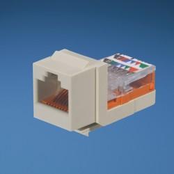 NetKey Cat 5e leadframe jack module - Off White