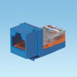 NetKey Cat 5e leadframe jack module - Blue