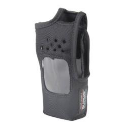 Funda de Nylon con Clip metálico para cinto, capuchón auto-adherible para los botones y visión frontal, para radios Kenwood.