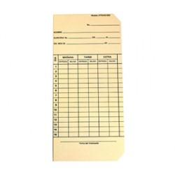 Tarjeta Mensual para Relojes Checadores ATR Acroprint