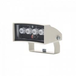 Iluminador de Luz Blanca de Bajo Consumo 40m con Visión de 60° Para Intemperie