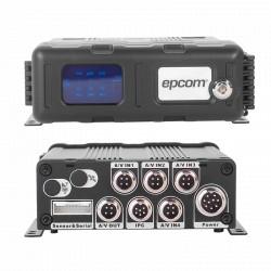 DVR móvil híbrido de 4 canales de super alta resolución WD1 + 1 canal de 1MP grabación en tarjetas Micro SDXC hasta 128GB