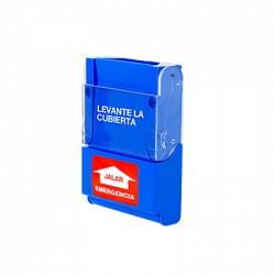 Estación manual de emergencia en policarbonato de alta resistencia