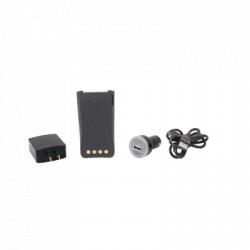 Batería con cargador USB integrado de Li-Ion 2000MAH con clip para radio HYT PD782 para cargarla como celular