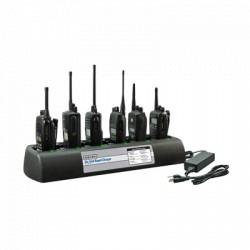 Multicargador Endura para 6 radios HYT TC508/518/580, para baterías de Ni-MH, Ni-Cd, Li-Ion, LiPo.